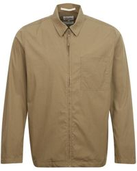 Norse Projects Jens Zip Packable Overshirt Beige - Natural