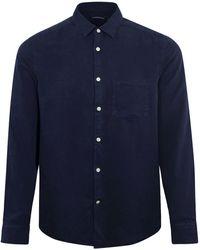 J.Lindeberg Comfort Shirt Navy - Blue
