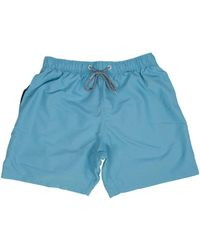 Boardies - Cyan Mid Swim Shorts - Lyst