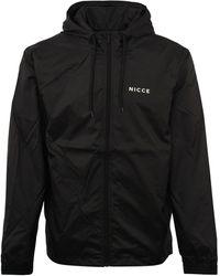 Nicce London Core Logo Windbreaker Black