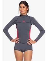 Roxy Long Sleeve Back Zip Flt Springsuit - Pink
