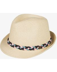 Roxy Straw Trilby Hat - Yellow