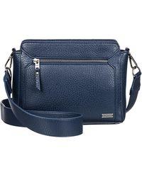 6ad9741386b COS Medium Leather Crossbody Bag in Black - Lyst