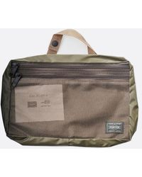 Porter Large Olive Snack Pack Pouch - Green