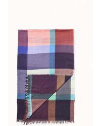 Epice Brown Fall Checks Square Scarf - Multicolour