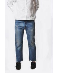 Chimala Vintage Medium Wash Used Ankle Cut Jean - Blue