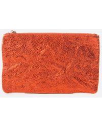 Zilla Burnt Orange Metallic Big Pouch