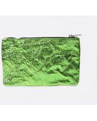 Zilla Grass Metallic Big Pouch - Green