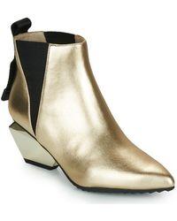 United Nude Jacky Tek Bootie Mid Low Ankle Boots - Metallic