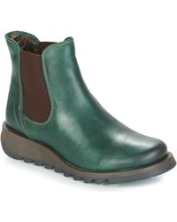 Fly London Salv Mid Boots - Green