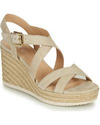 Geox D Ponza Sandals - Natural
