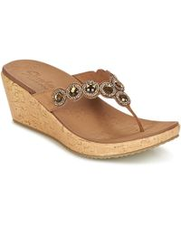 bc087df65 Guess Shadia 2 Women s Flip Flops   Sandals (shoes) In Brown in ...