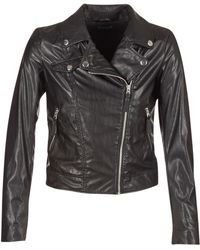 Benetton - Fajoli Leather Jacket - Lyst