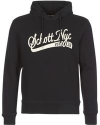 Schott Nyc Swhood 28 Sweatshirt - Black