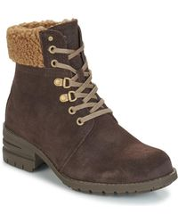 Caterpillar Cora Fur Women's Low Ankle Boots In Brown