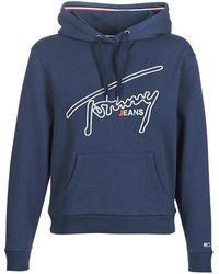 Tommy Hilfiger Tjw Tommy Signature Women's Sweatshirt In Blue