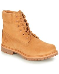 Timberland 6in Premium Suede Boot Mid Boots - Natural