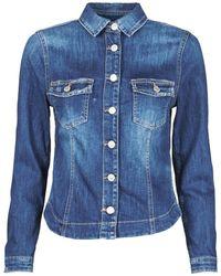 Le Temps Des Cerises Lilly Denim Jacket - Blue