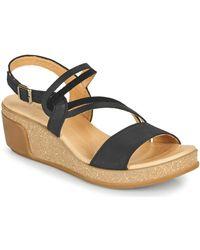 El Naturalista Leaves Sandals - Black