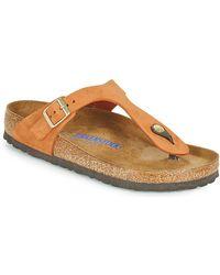 Birkenstock Gizeh Sfb Flip Flops / Sandals (shoes) - Orange