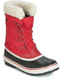 Sorel Winter Carnival Waterproof Boot For Winter - Red