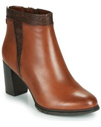 Tamaris Feelina Low Ankle Boots - Brown