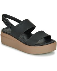 Crocs™ Women's Brooklyn Low Wedge - Black