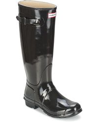 HUNTER - Wo Original Tall Gloss Wellington Boots - Lyst