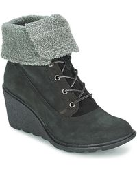 Timberland Amston Roll Top Women's Low Ankle Boots In Black