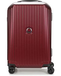 Delsey Securitime Frame 55 Cm Double Wheels Cabin Hard Suitcase - Red