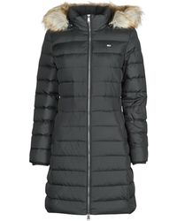 Tommy Hilfiger Tjw Essential Hooded Down Coat Jacket - Black