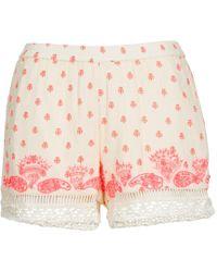 Brigitte Bardot Angeline Shorts - White