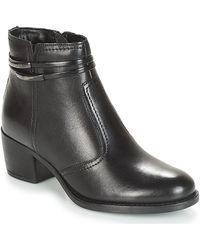 André Calotine Mid Boots - Black