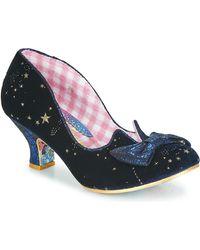 Irregular Choice Dazzle Razzle Court Shoes - Blue