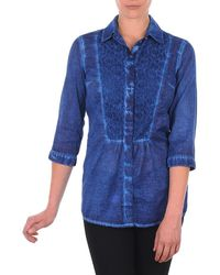 S.oliver - Chemister Manches Tr Shirt - Lyst