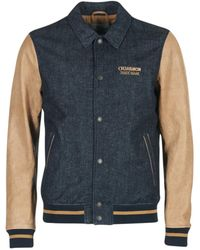 Chevignon - B-denim Leather Jacket - Lyst