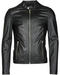 Oakwood Marker Leather Jacket - Black