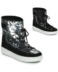Moon Boot Sequin Panelled Boots - Black