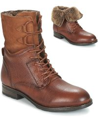 Sebago Laney Lace Boot Low Ankle Boots - Brown