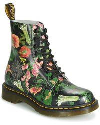 Dr. Martens 1460 Pascal Wild Botanics Women's Mid Boots In Red