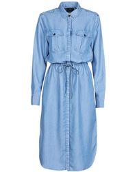 G-Star RAW Rovic Maxi Shirt Dress Ls Long Dress - Blue
