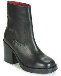 Bronx Bula Vard Low Ankle Boots - Black