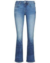 G-Star RAW 3301 Mid Skinny Bootcut Wmn Bootcut Jeans - Blue