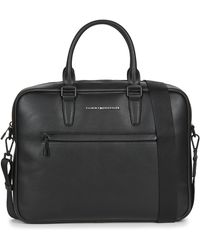 Tommy Hilfiger Th Metro Slim Computer Bag Briefcase - Black