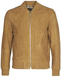 SELECTED Slhbroke Leather Jacket - Brown
