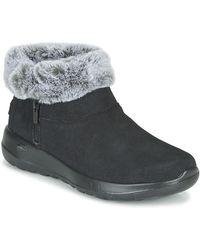 Skechers On-the-go Joy Mid Boots - Black