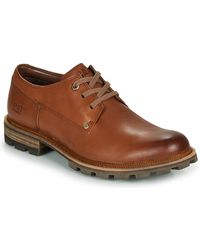 Caterpillar Men's Leather 'street' Derby Shoes - Brown