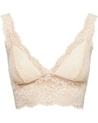 Pieces Pclina Triangle Bras And Bralettes - Natural