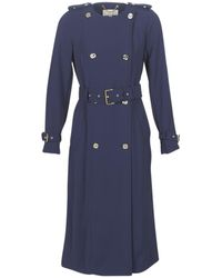 MICHAEL Michael Kors Collarless Trench Trench Coat - Blue