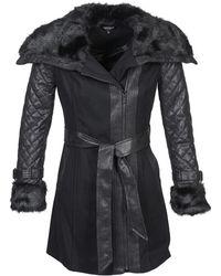 Morgan Gefrou Coat - Black